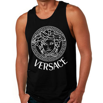 VERSACE men tank top tee tshirt shirt size S M L XL Screen Printing by Sugarcreek2012