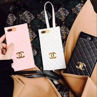 Chanel Fashion Tartan iPhone Phone Cover Case For iphone 6 6s 6plus 6s-plus 7 7plus