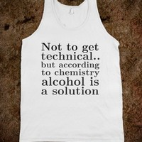 Alcohol is a solution tank - Tee Time Baby -