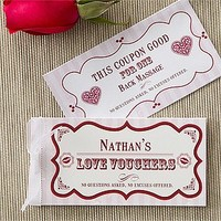 Personalized Romantic Love Coupons - Create Your Own