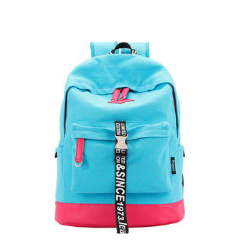 On Sale Casual College Back To School Comfort Hot Deal Stylish Print Patchwork Canvas Backpack [6304975876]