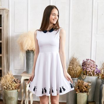 Cotton Dancing Bunny dress