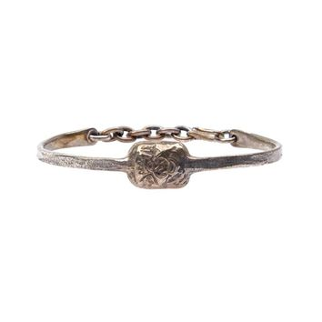 Tobias Wistisen skinny crest stamp bangle