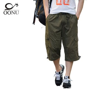 OONU 2017 Summer Thin Men's Cargo Breathable Baggy Overalls Joggers Men pants For Military Camouflage Tactical