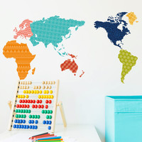 map home decor wall decal