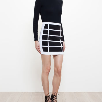 Geometric Stretch-Knit Mini Skirt - BALMAIN