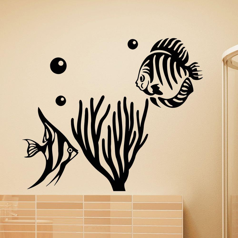 Wall vinyl decals aquarium tropical fish from amazon for Best home decor from amazon