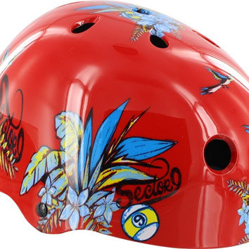 Sector 9 Aloha Helmet Small Red