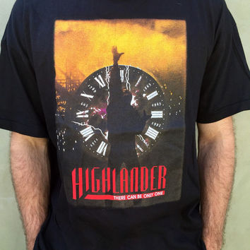 Highlander the TV show - There Can Only Be One... Vintage t shirt