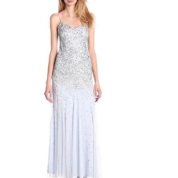 Adrianna Papell - Fully Beaded Sleeveless Gown 91904720