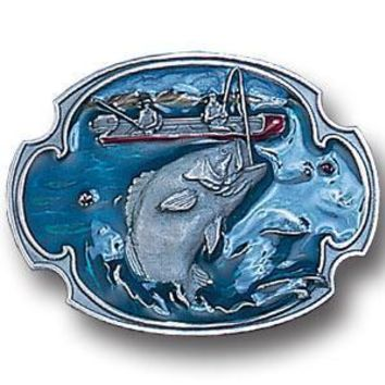 Sports Jewelry & AccessoriesSports Accessories - Bass Fishing Enameled Belt Buckle