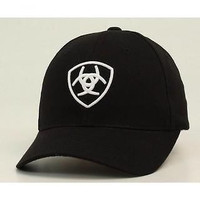 Ariat Black with White Logo Snap Back Cap