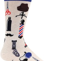 Barber Shop Men's Crew Socks