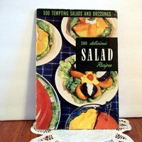 1951 Salad Recipes Booklet 500 Tempting Salads and Dressings Cooking Vintage Recipes Appetizers
