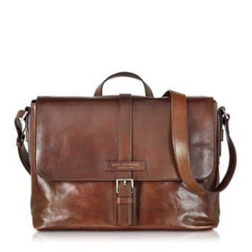 The Bridge Designer Briefcases Marcopolo Viaggio Marrone Leather Messenger Bag