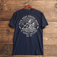 Calm Seas tee in Navy