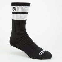 Nike Sb Elite Skate Mens Dri-Fit Crew Socks Black/White One Size For Men 24439212501