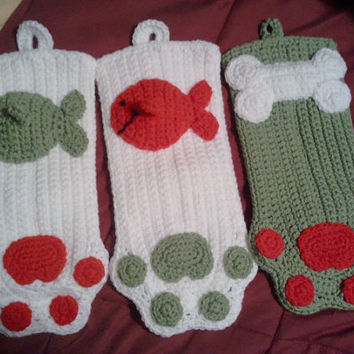 Pet , dog and/or cat Christmas Stockings