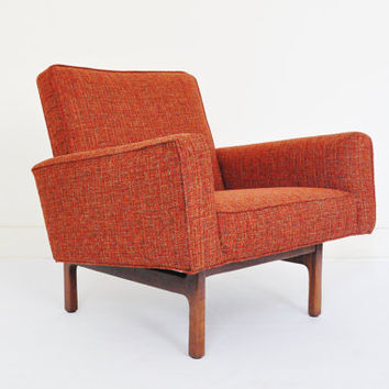 Milo Baughman for Thayer Coggin Danish Modern Walnut Lounge Chair