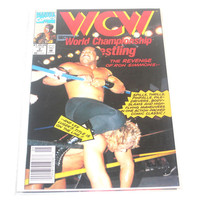Vintage Comic Books, 1992 WCW Marvel Comics #1 and #2, Wrestling, Antique Alchemy