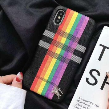 Kalete Burberry Fashion iPhone Phone Cover Case For iphone 6 6s 6plus 6s-plus 7 7plus 8 8plus X
