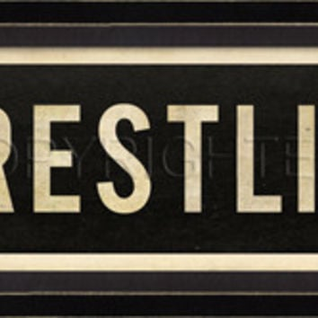 Sports Street Signs - Wrestling