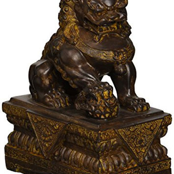 Design Toscano Chinese Guardian Male Lion Foo Dog Statue