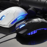 6D Button 2400DPI Wired Noiseless Game Gaming Mouse Gamer Blue LED For Computer and Laptop