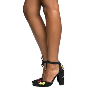 Cape Robbin Beautiful-7 Black Women's High Heel