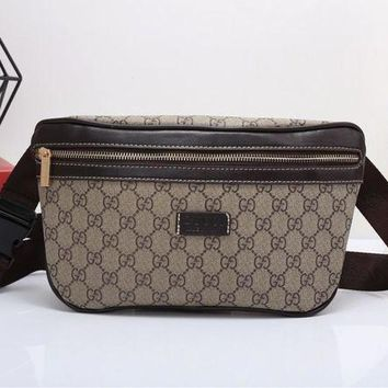 DCCKON Gucci' Casual Fashion Classic Double G Letter Logo Print Chest Bag Messenger Bag Men Waist Bag