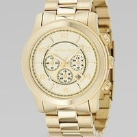 Michael Kors - Oversized Chronograph Watch/Goldtone - Saks.com