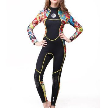 M007 3mm One-piece Surfing Diving Suit Wetsuit    XS