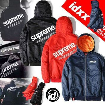 Men's Fashion 'supreme' Winter Hats Outdoors Sports Thicken Jacket [103863615500]