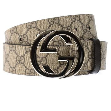 Gucci Belt % Made In Italy Man Beige 411924KGDHN-9643