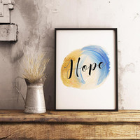 Hope print - Hope printable - Quote wall art - Christian wall art - Inspirational wall art - Hope wall art - Motivational print - PRINTABLE