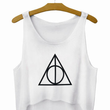 illuminati Crop Top Summer Style Tank Top Women's Top