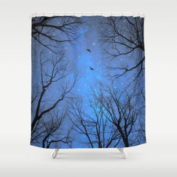 A Certain Darkness Is Needed (Night Trees Silhouette) Shower Curtain by soaring anchor designs ⚓   Society6