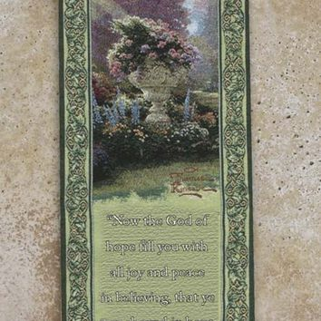 The Garden of Hope Religious Bell Pull Tapestry Wall Hanging