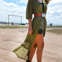 Outlaw Olive Duster - The Marble Gypsy