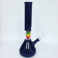 Water Pipe Percolator Rasta Heart 30 cm