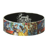 Disney Beauty And The Beast Stained Glass Rubber Bracelet