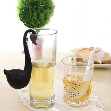 1pc Novelty Tea Infuser Swan Loose Tea Strainer Herb Spice Filter Diffuser Kitchen Gadgets Coffee Filter Drinkware Accessories