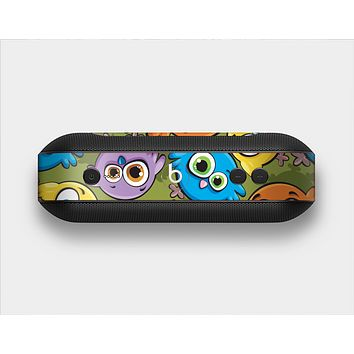 The Colorful Highlighted Cartoon Birds Skin Set for the Beats Pill Plus