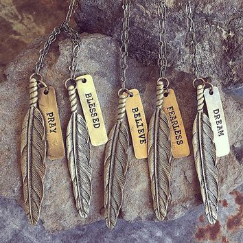 Wandering Feather Necklace