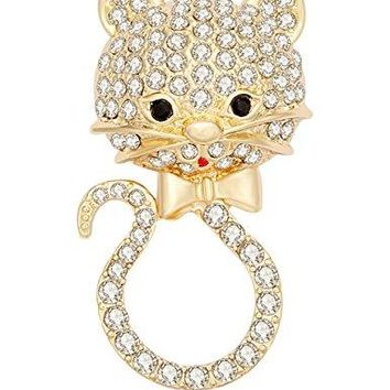 CHUANGYUN Lovely Cat Magnetic Clip Holder Cute Kitty Magnetic Eyeglass Holder Brooch Jewelry