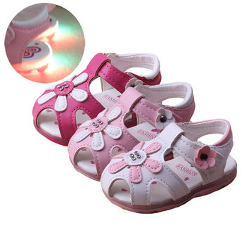 7-36Months Baby Girls Sandals  Cute Summer Princess Flowers Toddlers Kids ShoeS Toddler Lovely Baby Girl Shoes Kids new style