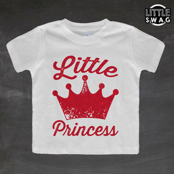 Little Princess (white shirt) - toddler apparel, kids t-shirt, children's, kids swag, fashion, clothing, prince, cute kids shirt, girls,