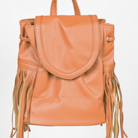 Pleather Mini Fringe Backpack