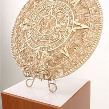 Aztec Solar Calendar Precolumbian Museum Replica Wall Hanging, Assorted Sizes