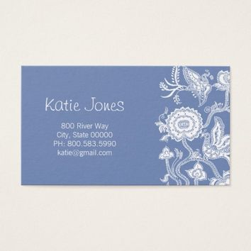 Chinese Floral Batik Profile Cards